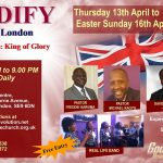 Advert for EDIFY Rally in London - Hosted by Evangelist David Kyeyune