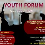 Advert and Invitation to YOUTH FORUM at Real Life Centre in Eltham, London.