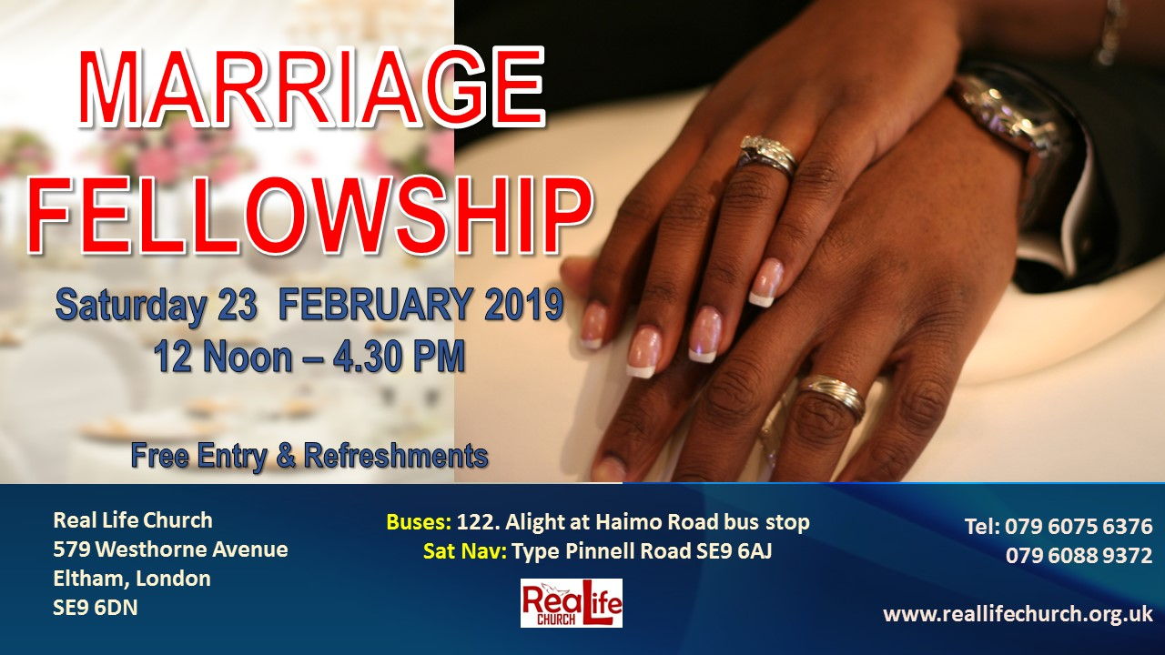 Marriage Fellowship – Saturday 23 Feb 2019