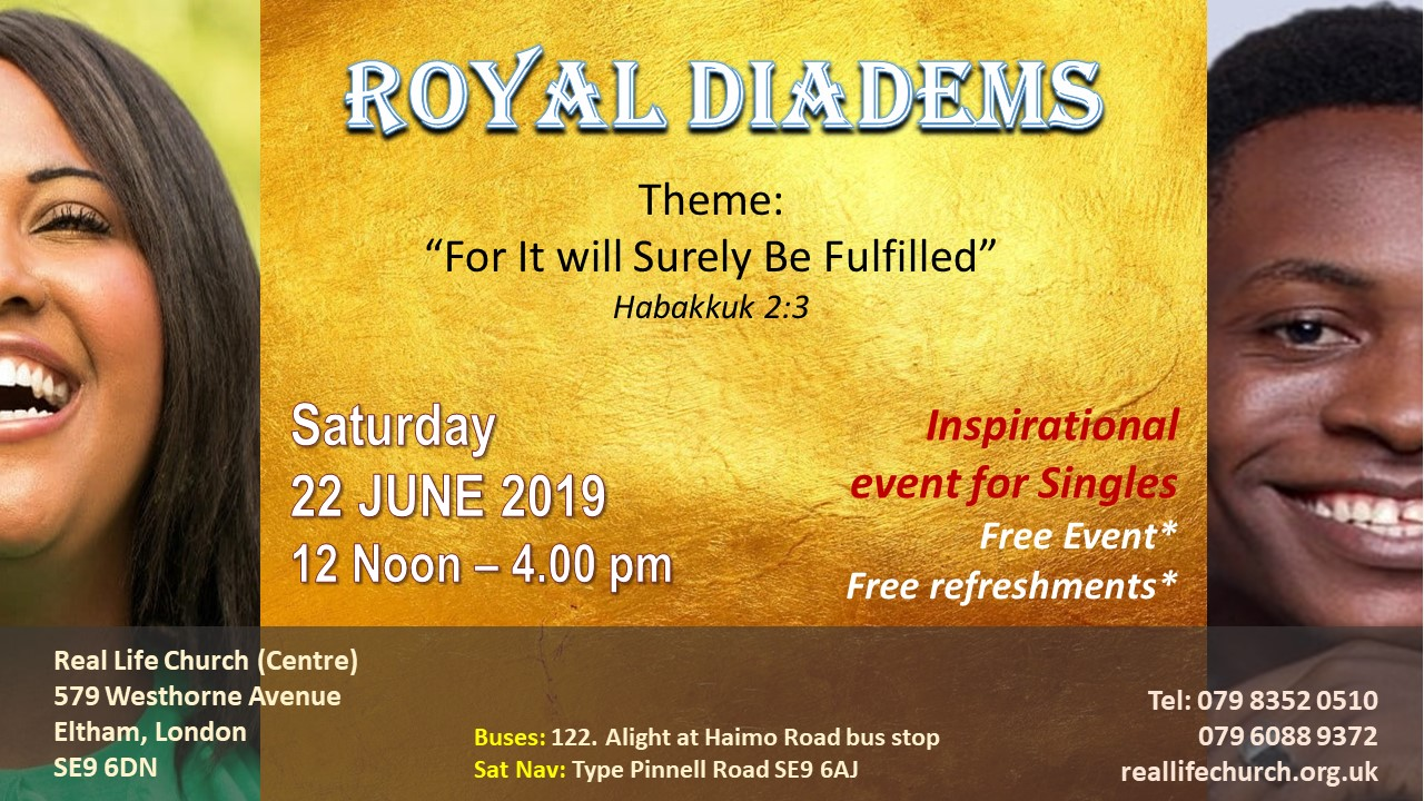 Royal Diadems Singles Conference 2019