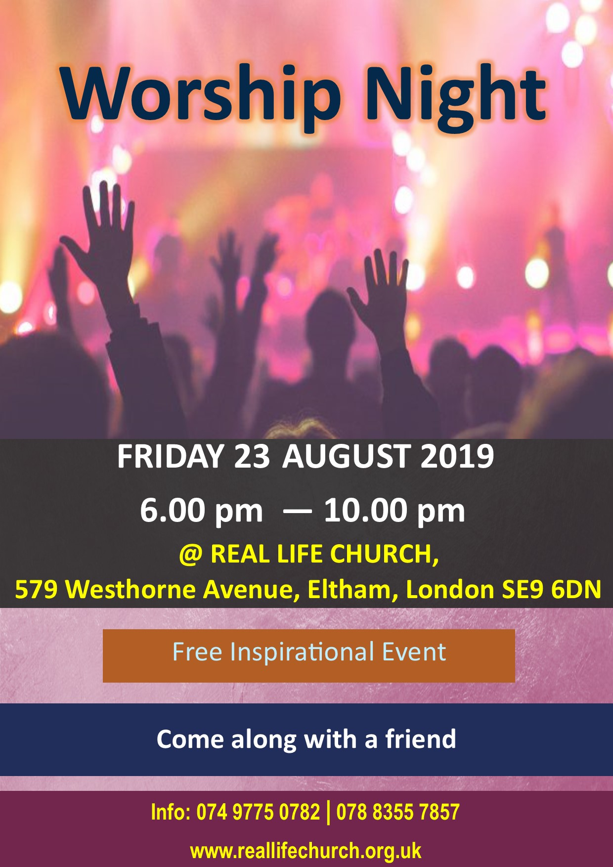 Worship Night – 23 August 2019