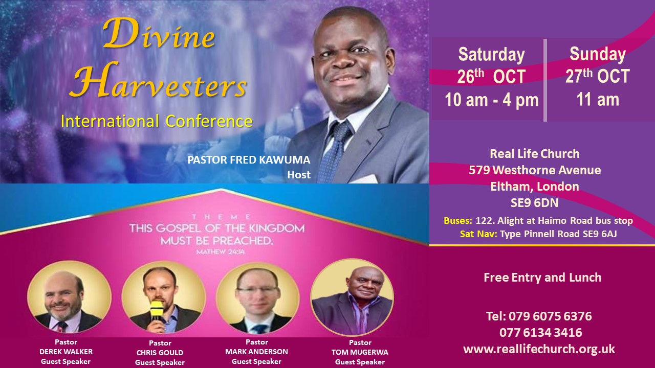 Divine Harvesters Conference – 26 – 27th October 2019