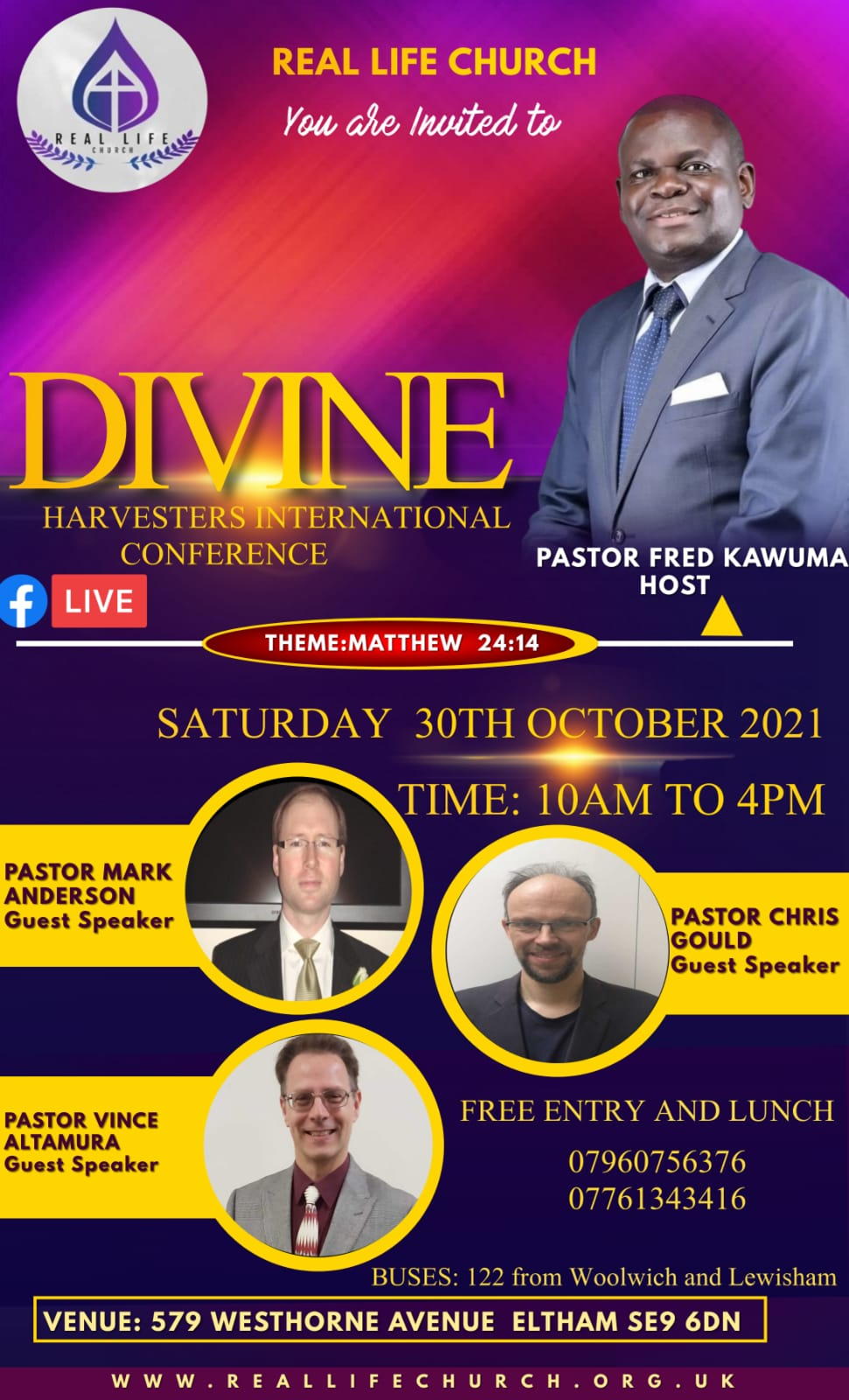 Divine Harvesters Conference – 30th October 2021